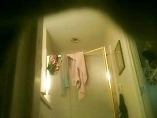 hot mature woman getting out of shower - hidden