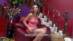 The Sexy MILF Miss Melrose Humps the Hitachi