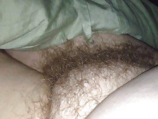 revealing the wifes soft furry natural hairy pubic bush.