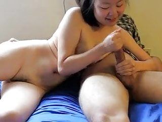Exposed Asian Girlfriend Sucks a Hard Cock