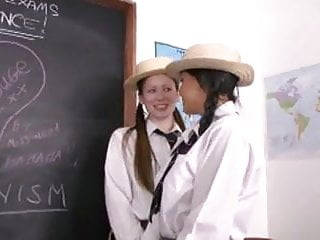 Ms. Rouge with Sasha and Vicki as teacher and schoolgirls