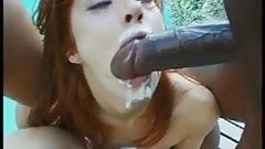 Eating cum off her girlfriends arsehole