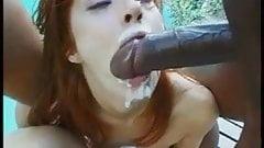 Eating cum off her girlfriends arsehole