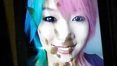 WWE Asuka Cumtribute 2 (HUGE CUMSHOT!!)