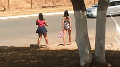 Putas na rua sem calcinha