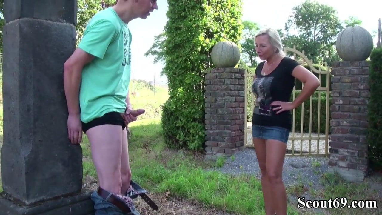 Bacanal Xxx german mother caught step son and helps with fuck in garden