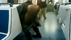 Black Girl Pisses On Train