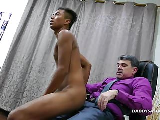 Preview 3 of Daddy and Asian Boy Josh Flip Fuck
