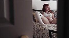 The voyeur watches the lady cum