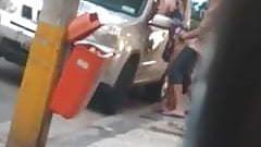 Hidden cam films a outdoor fuck in Brazil