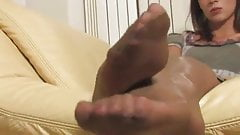 Sexy feet in stockings