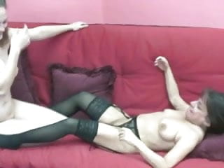 Two lovely lesbians licking each other