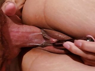 Tight Filipina cums on fat white cock