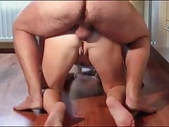 After anal he piss in her ass