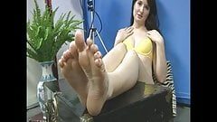 Beautiful feet and face