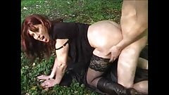 Very hot milf suck and fuck big young dick in the wild