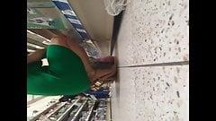 Green mature upskirt
