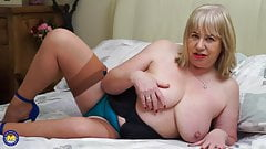 Busty grandmother wants your cock now