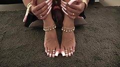Lofia Tona - Stroking with sexy long nails