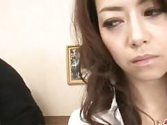 Maki Hojo gets cock to devour each of her holes