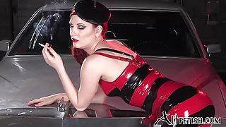 Angela Ryan Latex and Smoking Fetish