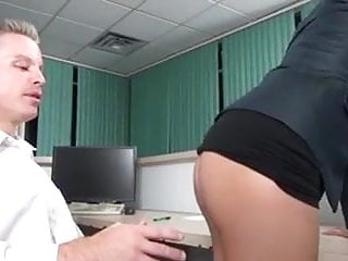 Sexy boss makes him fuck her