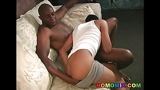 Horny latin guy gets assfucked by a black man