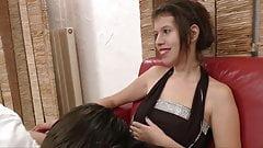 Passionate brunette