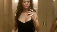 Nikki Ladyboys at the woman's toilet