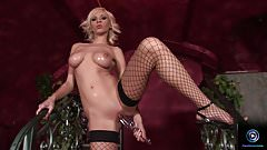 Alexis shows her yummy goodies and starts masturbating
