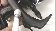 Japanese Boots and Fishnets Girl 3 Way 3