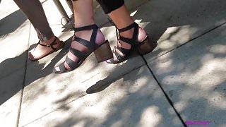 Candid feet on lunch break pt 2