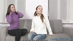 Casting amateurs screwed in threesome