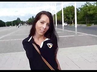 Fine Bitch Gets A Public Facial