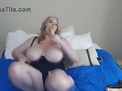 Curvy mom Zoey with dirty talks and monster boobs