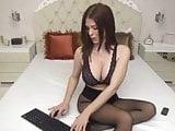 Brunette Babe In Panty's Seducing