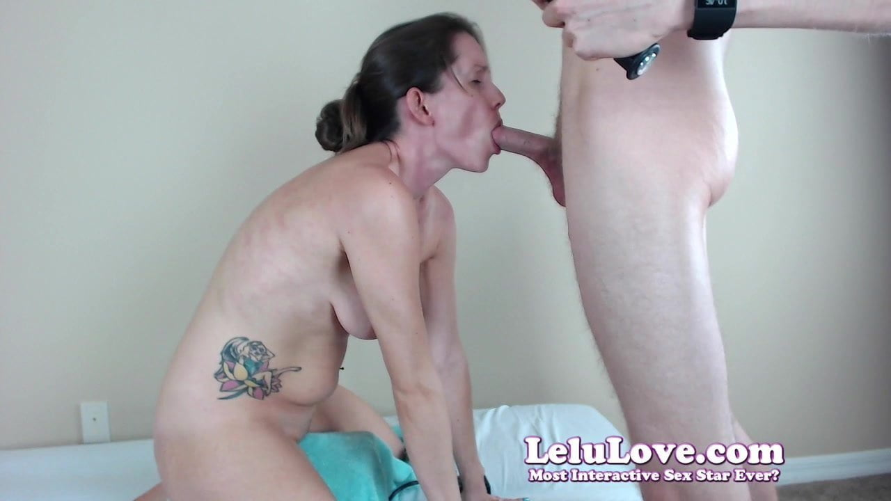 Behind the scenes webcam show of live blowjob and facial
