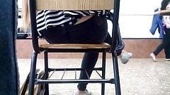 Teen classroom thong