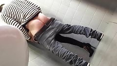 Young French girl fucked at public toilets
