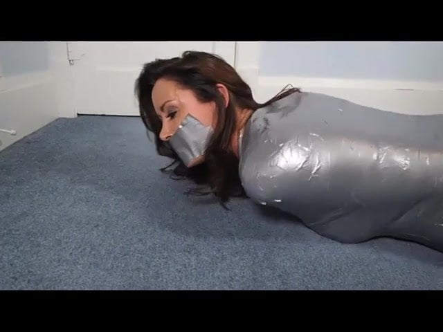Blonde Girl Tape Gagged