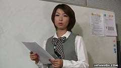 Lady Tsubaki is a sexual freak who gets creamed at the offic