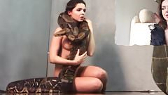 Naked Kristy Jessica with Snake Pure Rebel