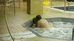 Couple fucking in hotel hot tub - Part 2