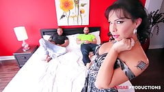 French Canadian Girls - 2 Guys on a Tranny
