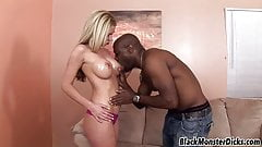 Big Tit Blonde pounded by Black Dick