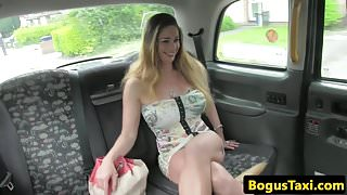 Hungarian taxi babe dickriding reversecowgirl