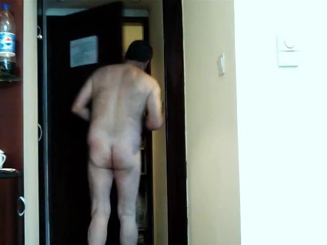 Answering door naked video