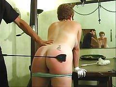 cute woman taking an erotic ass whipping