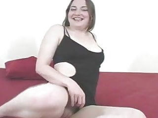 Stunning brunette shows off her pussy