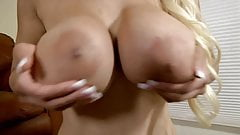 Holly Brooks milf with huge tits on sybian